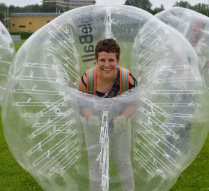 plezier in een bubbleball 2