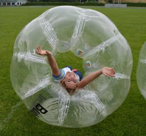 plezier in een bubbleball
